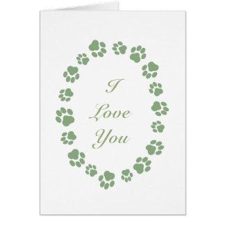 """""""Je t'aime"""" carte pour des personnes de chat"""