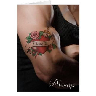 """""""Je t'aime"""" carte toujours romantique de message"""