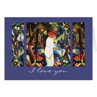 Je t'aime. Cartes de Saint-Valentin de beaux-arts