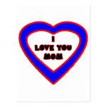 Je t'aime coeur bleu de MAMAN les cadeaux de Carte Postale