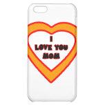 Je t'aime coeur orange de MAMAN le GIF de Zazzle d Coque Pour iPhone 5C