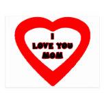 Je t'aime coeur rouge de MAMAN les cadeaux de Cartes Postales