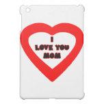 Je t'aime coeur rouge de MAMAN les cadeaux de Coques Pour iPad Mini