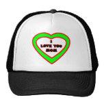 Je t'aime coeur vert de MAMAN le cadeau de Zazzle  Casquettes