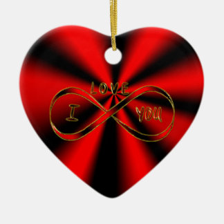 Je t'aime infiniment ornement cœur en céramique