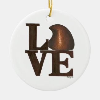Je t'aime ornement de Valentine de sucrerie de