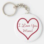Je t'aime plus de porte - clé porte-clé