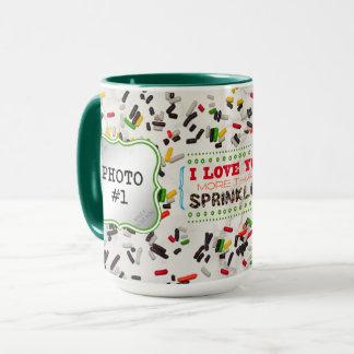 Je t'aime plus qu'arrose (avec 2 photos) mug