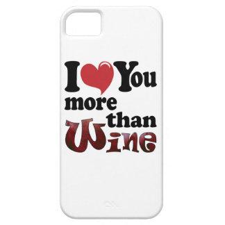 Je t'aime plus que le vin iPhone 5 case