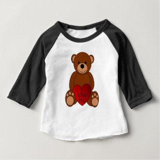 Je t'aime T-shirt de bébé d'ours
