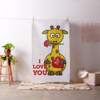 je t'aime tissu de girafe