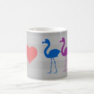 """""""Je tasse de café de flamants de coeur"""""""