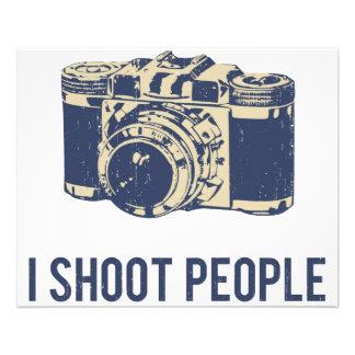 Je tire l'appareil-photo de photographie de prospectus 11,4 cm x 14,2 cm