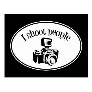 Je tire le rétro appareil-photo B&W de la Carte Postale