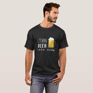 Je transforme la bière en T-shirt de code