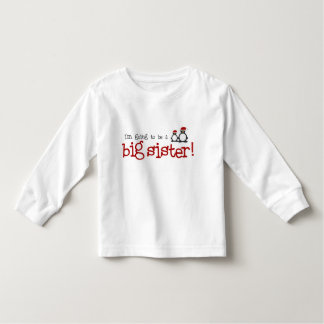 Je vais être une grande soeur t-shirt pour les tous petits