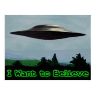 Je veux croire carte postale
