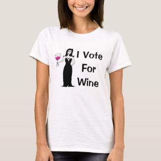 Je vote pour le vin t-shirt