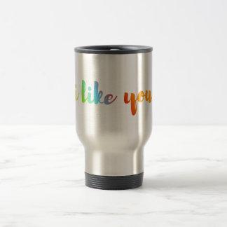 """""""je vous aime"""" citer le flacon de tasse de tasse"""