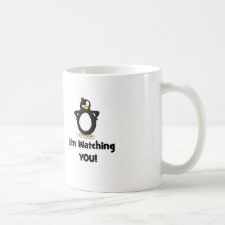 Je vous observe pingouin mug blanc