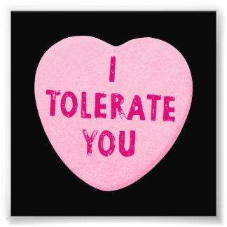 Je vous tolère sucrerie de coeur de Saint-Valentin Photo