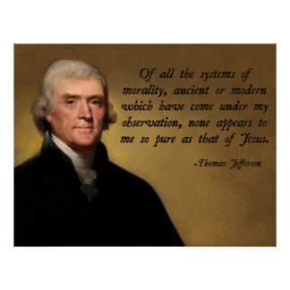 Jefferson Jesus Quote Poster