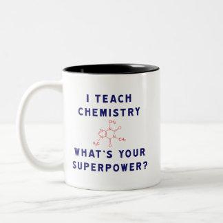 J'enseigne à chimie ce qui est la votre mug bicolore