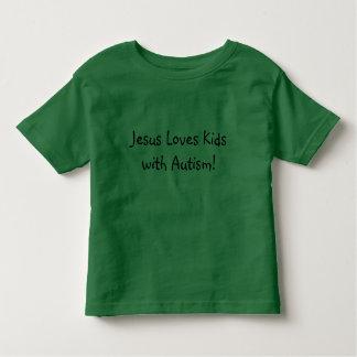Jésus aime des enfants avec l'autisme ! t-shirt pour les tous petits
