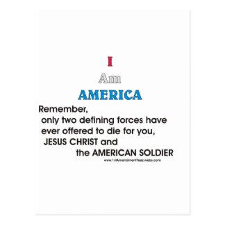 Jésus-Christ et le soldat américain Carte Postale