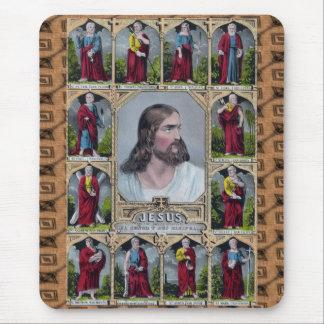 Jésus et les 12 apôtres tapis de souris