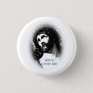 Jésus m'aime bouton badge rond 2,50 cm