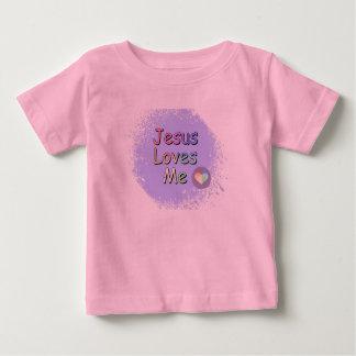 Jésus m'aime t-shirt pour bébé