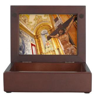 Jésus sur la croix boîte à souvenirs