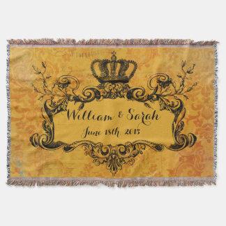 Jet royal de couronne de mariage fait sur commande couverture