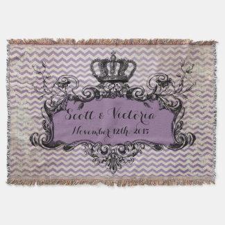 Jet royal de couronne de mariage fait sur commande couvre pied de lit