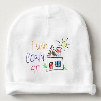 """""""J'étais à la maison"""" casquette né de calotte de Bonnet Pour Bébé"""
