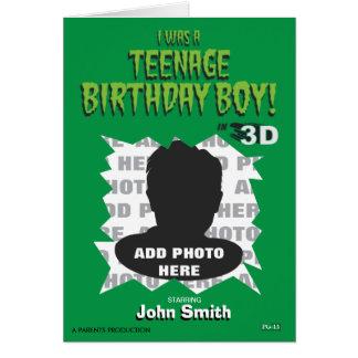 J'étais un garçon adolescent d'anniversaire ! carte de vœux