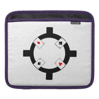 Jeton de poker - blanc housse iPad
