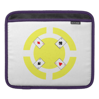 Jeton de poker - jaune housse iPad