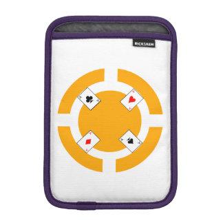 Jeton de poker - orange housse iPad mini