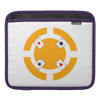 Jeton de poker - orange housse pour iPad