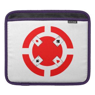 Jeton de poker - rouge housse pour iPad