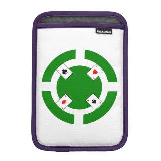 Jeton de poker - vert housse iPad mini