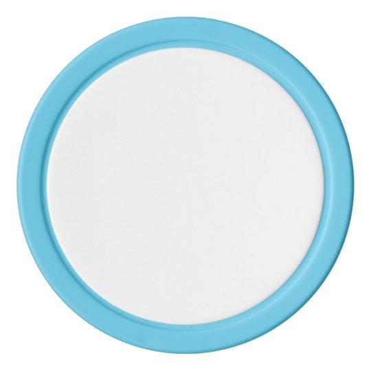 Jetons de poker en argile, Bleu ciel Bord couleur argent