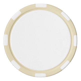 Jetons de poker avec le bord rayé d'ivoire
