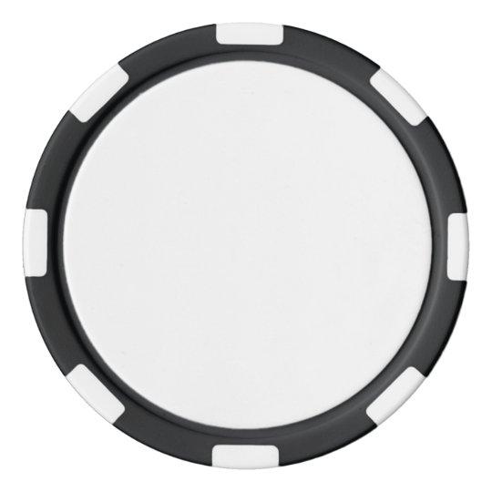 Jetons de poker en argile Noir avec Bord à rayures