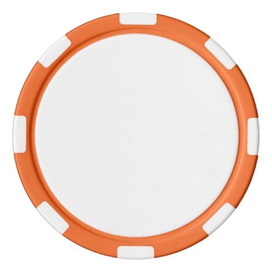 Jetons de poker en argile, Orange Bord à rayures