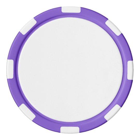 Jetons de poker en argile, Violet Bord à rayures