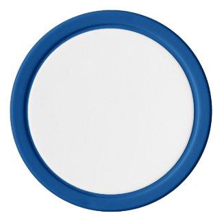 Jetons de poker avec le bord solide bleu