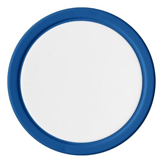 Jetons de poker en argile Bleu avec Bord couleur argent